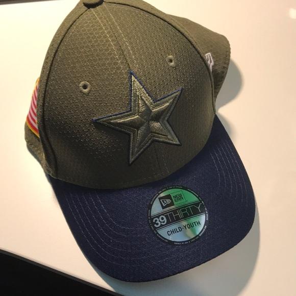 e66ef56cd285e Dallas Cowboys Child- Youth Military Cap